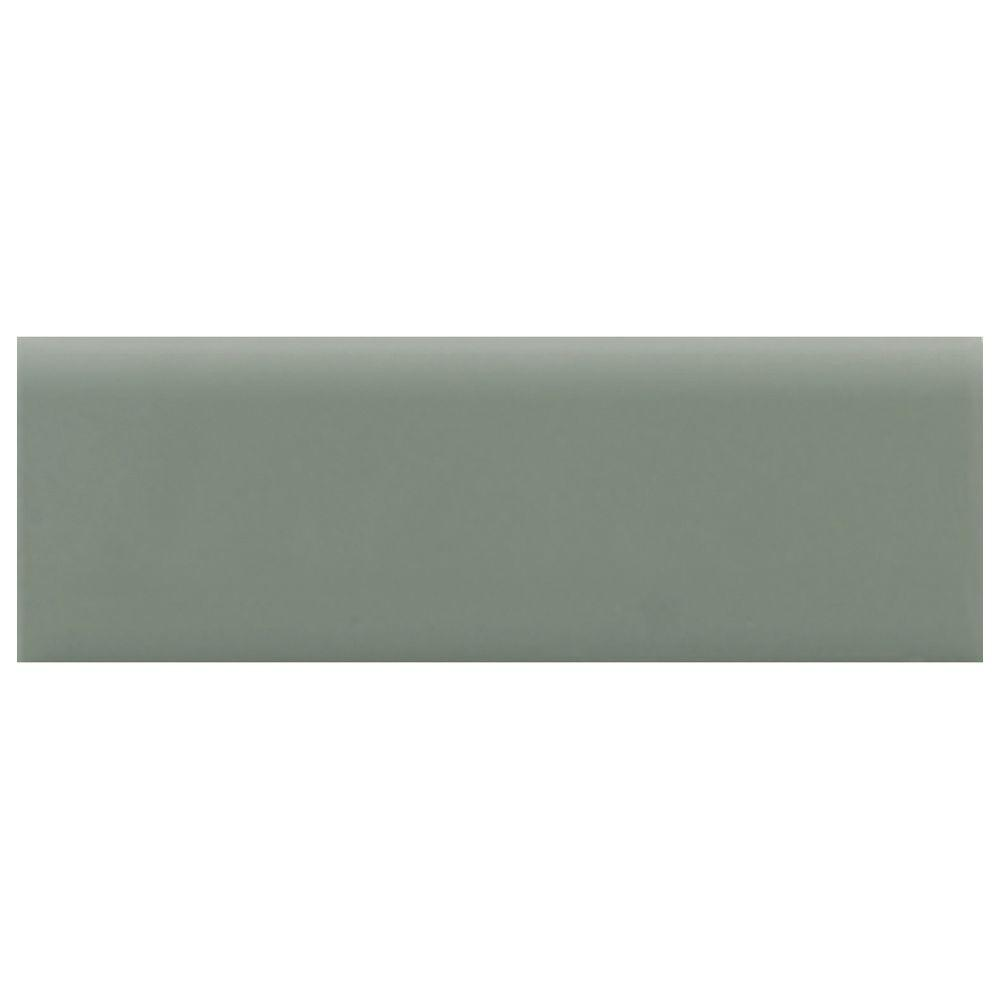 Daltile Semi-Gloss 2 in. x 6 in. Cypress Ceramic Bullnose Wall Tile-DISCONTINUED