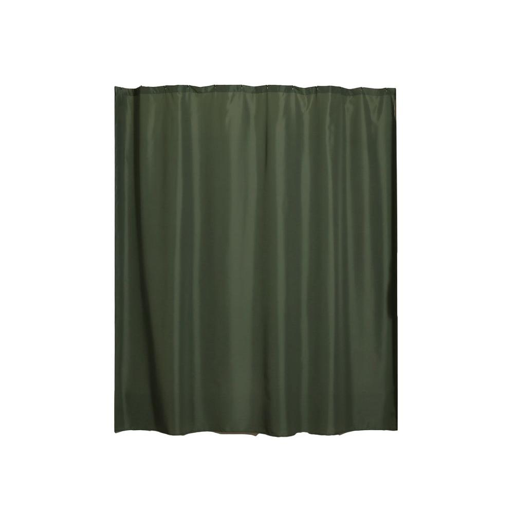 Aulaea Infinity Collection 72 in. Shower Curtain Liner in Emerald
