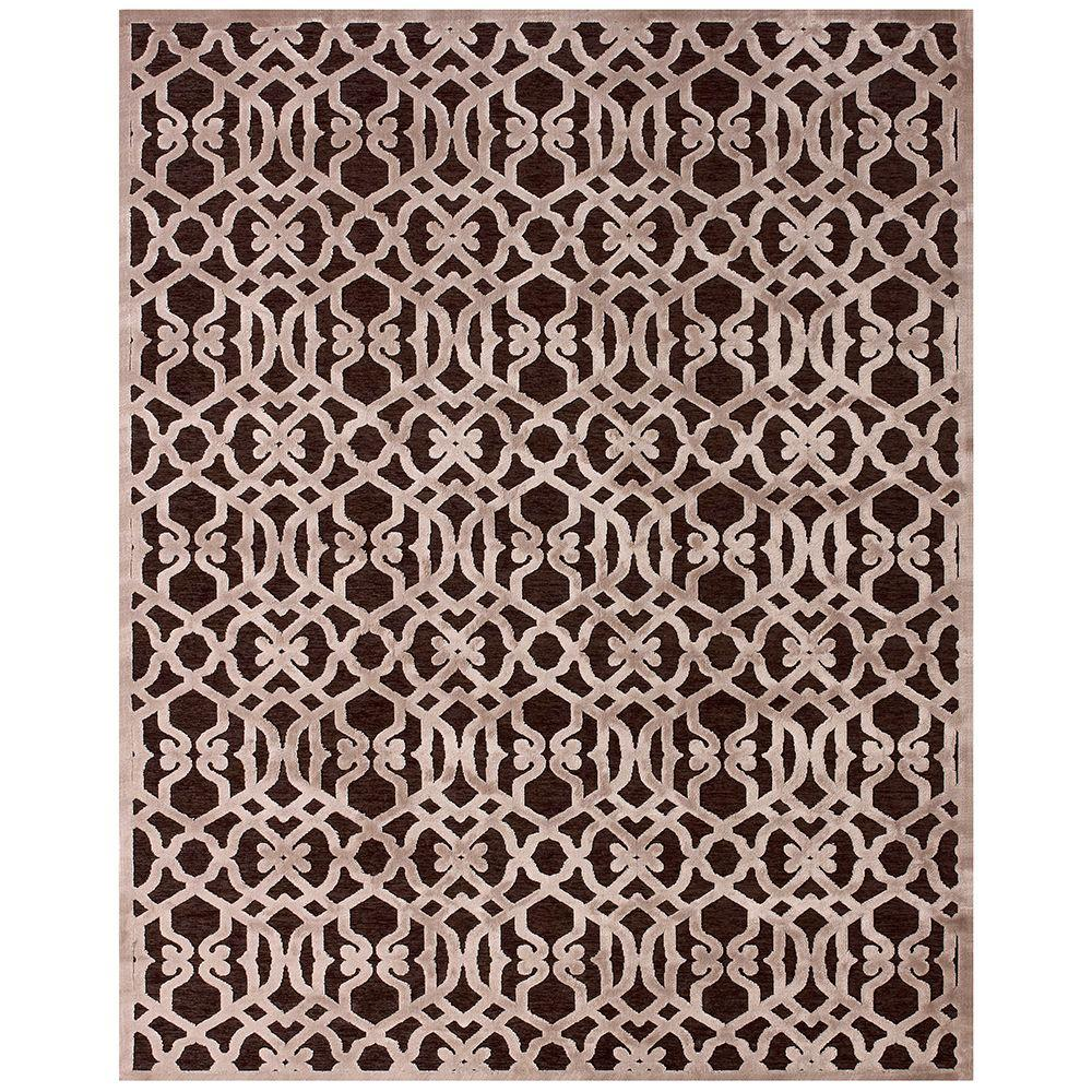 Feizy Saphir Zam Dark Chocolate/Gray 2 ft. 2 in. x 4 ft. Indoor Accent Rug