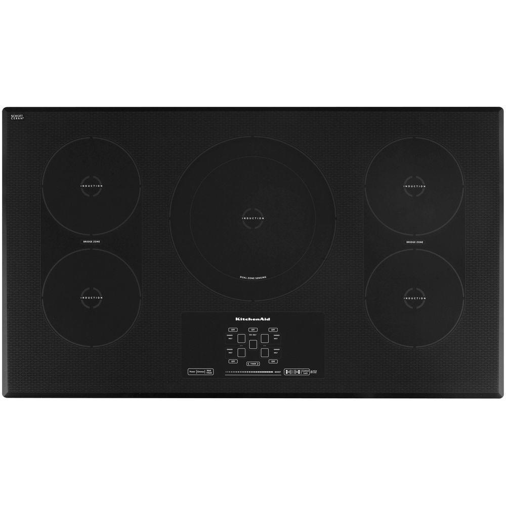 Architect Series II 36 in. Smooth Surface Induction Cooktop in Black
