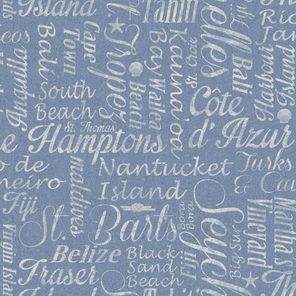 York Wallcoverings 56 sq. ft. Nautical Living Luxury Beaches Wallpaper-NY4826 -