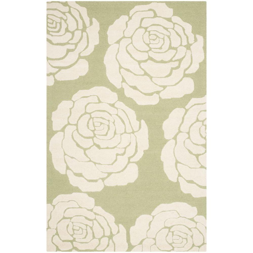 Safavieh Cambridge Lime/Ivory 6 ft. x 9 ft. Area Rug