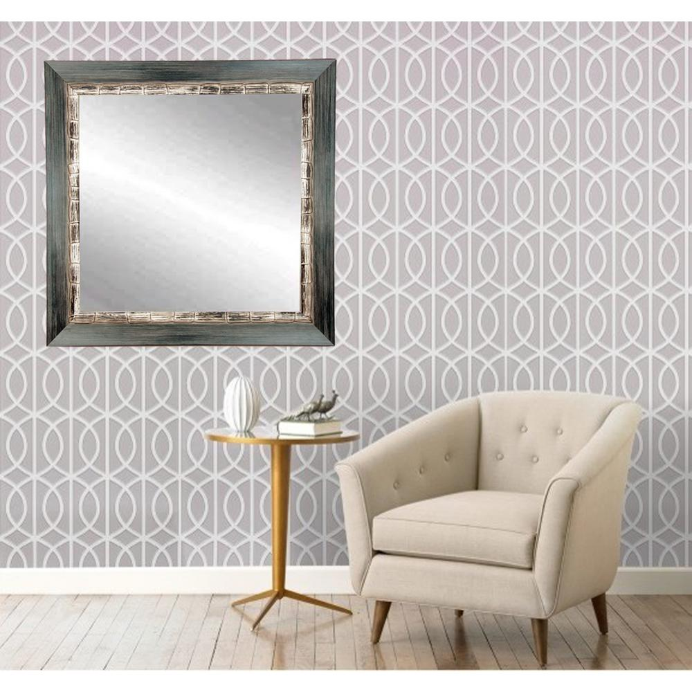 32 in. x 32 in Weathered Harbor Square Framed Mirror