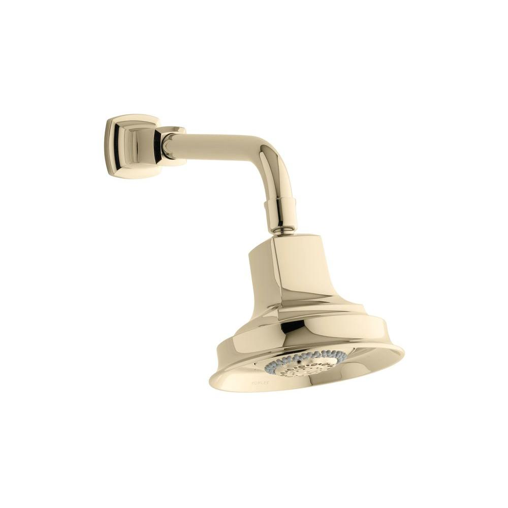 Margaux 3-spray Multifunction Showerhead in Vibrant French Gold
