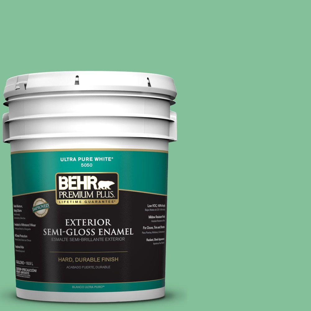 5-gal. #P410-4 Willow Hedge Semi-Gloss Enamel Exterior Paint