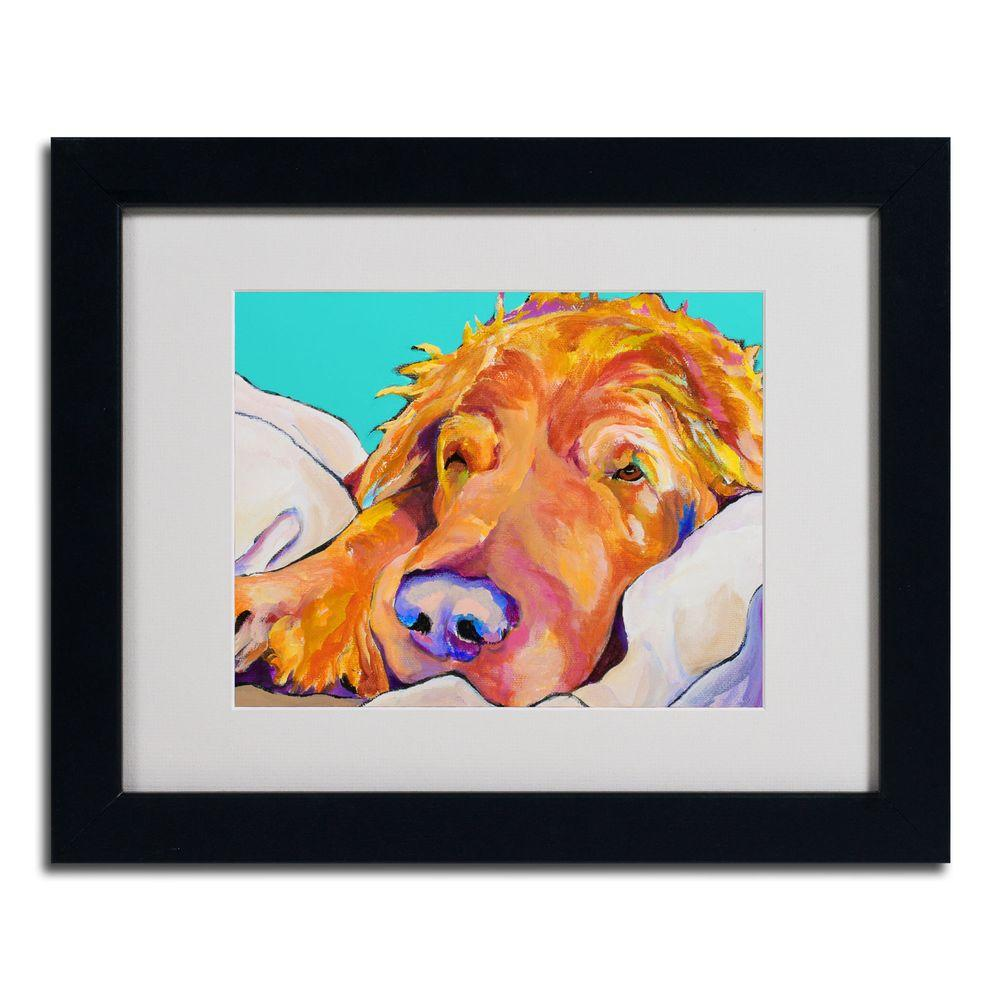 11 in. x 14 in. Snoozer King Black Framed Matted Art-PS015-B1114MF