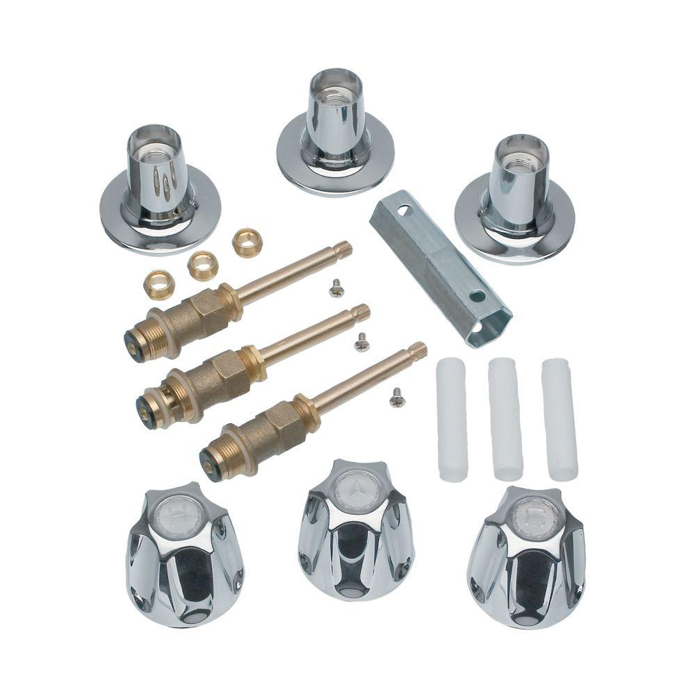3-Handle Trim Kit for Price Pfister Verve Faucets in Chrome (Valve ...