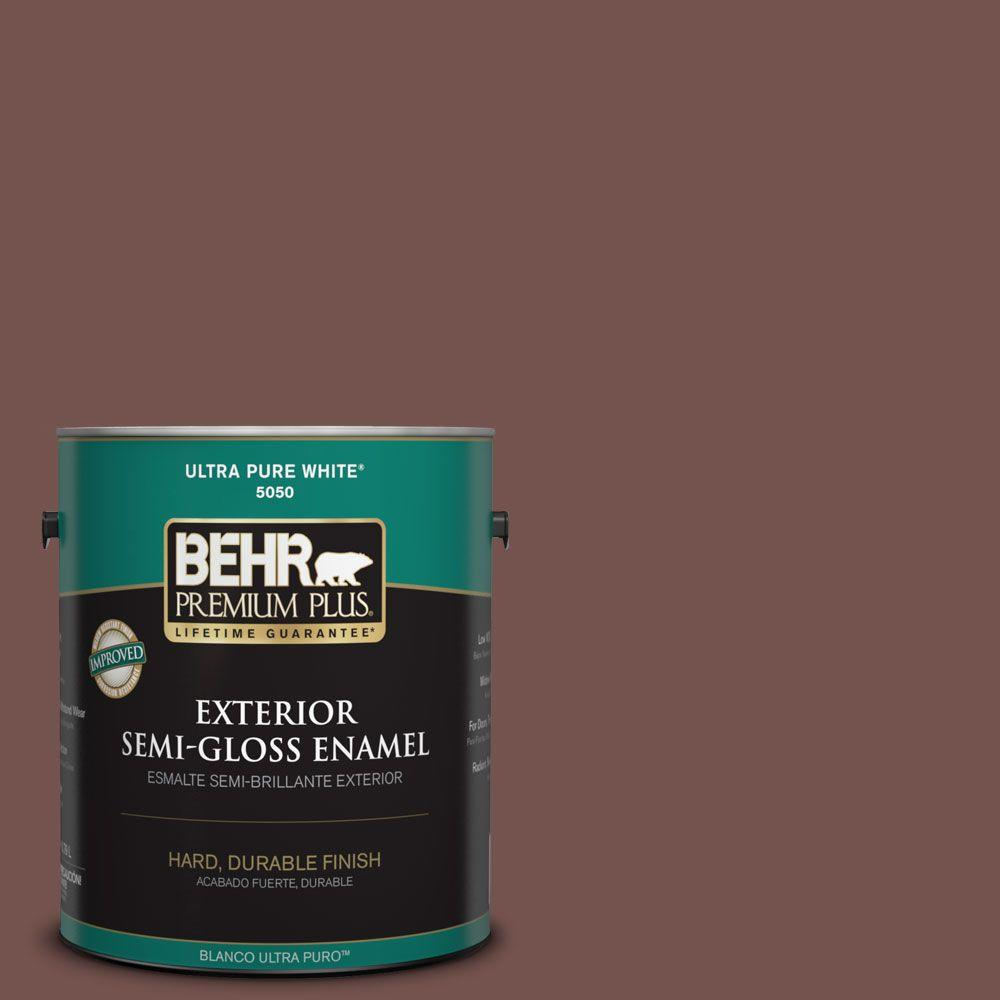 Home Decorators Collection 1-gal. #HDC-CL-12 Terrace Brown Semi-Gloss Enamel Exterior Paint