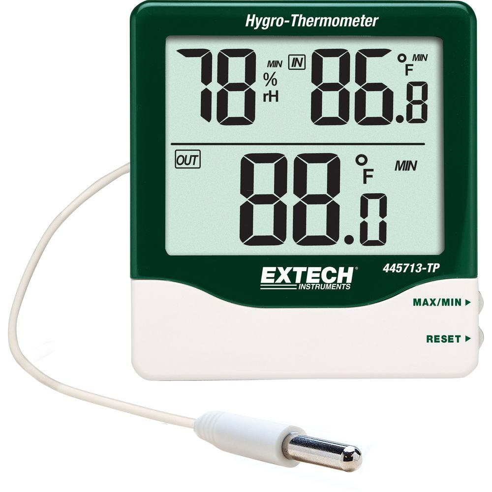 Extech Instruments Big Digit Indoor/Outdoor Hygro-Thermometer-445713-TP - The
