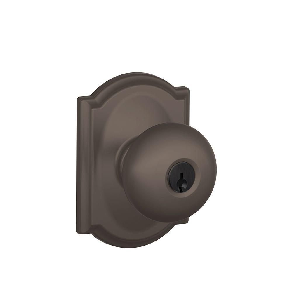 Camelot Collection Oil-Rubbed Bronze Plymouth Keyed Entry Knob