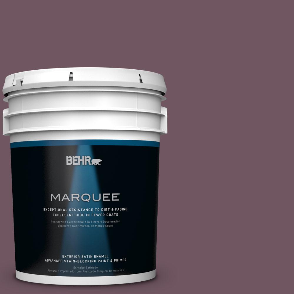BEHR MARQUEE 5-gal. #S110-7 Exotic Eggplant Satin Enamel Exterior Paint