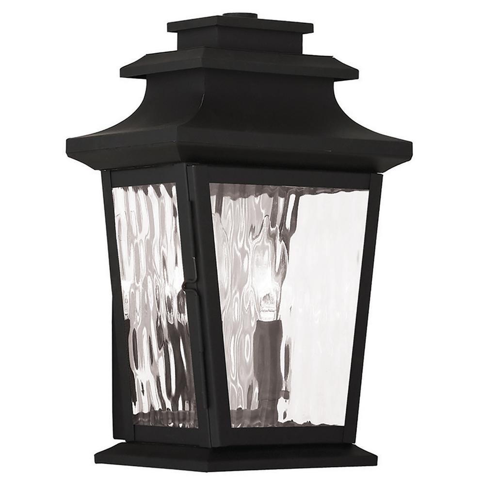Hathaway 2-Light Black Outdoor Wall Mount Lantern
