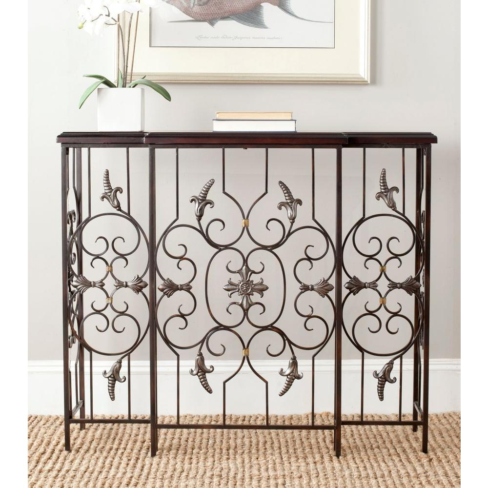 Courtney Dark Brown Console Table