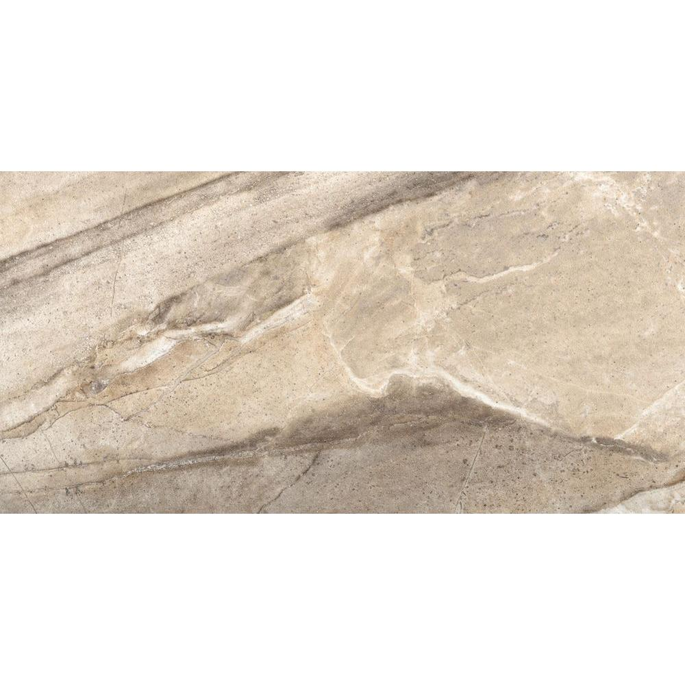 Europa Chiara Polished 11 in. x 23 in. Porcelain Floor and