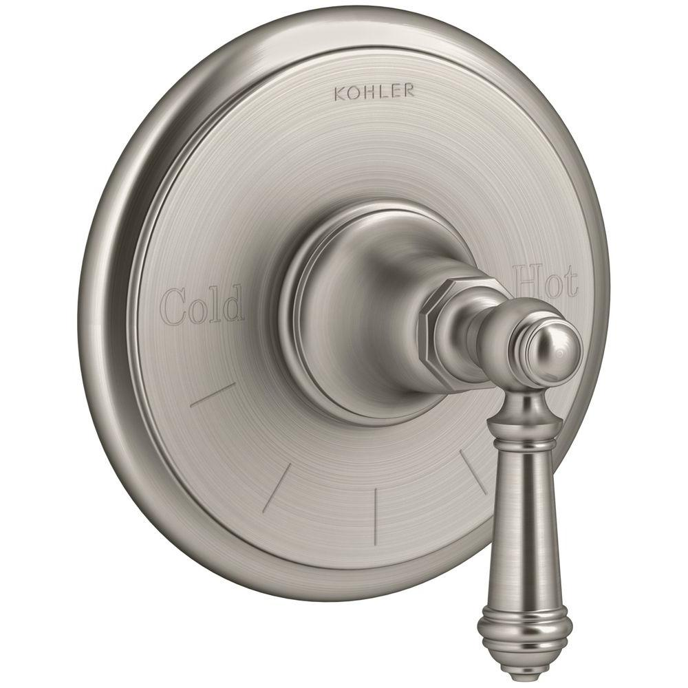 Artifacts Lever 1-Handle Thermostatic Valve Trim Kit in Vibrant Brushed Nickel