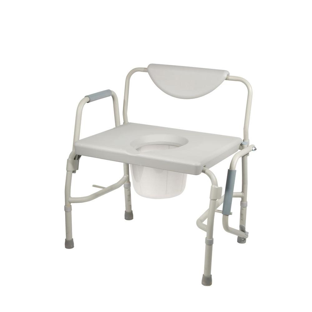 Drive Bariatric Drop Arm Bedside Commode Chair