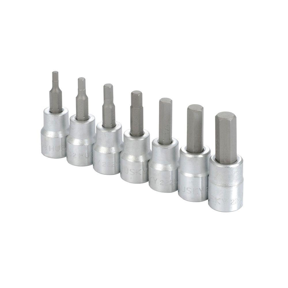 Husky 3/8 in. Hex Bit Set (7-Piece)