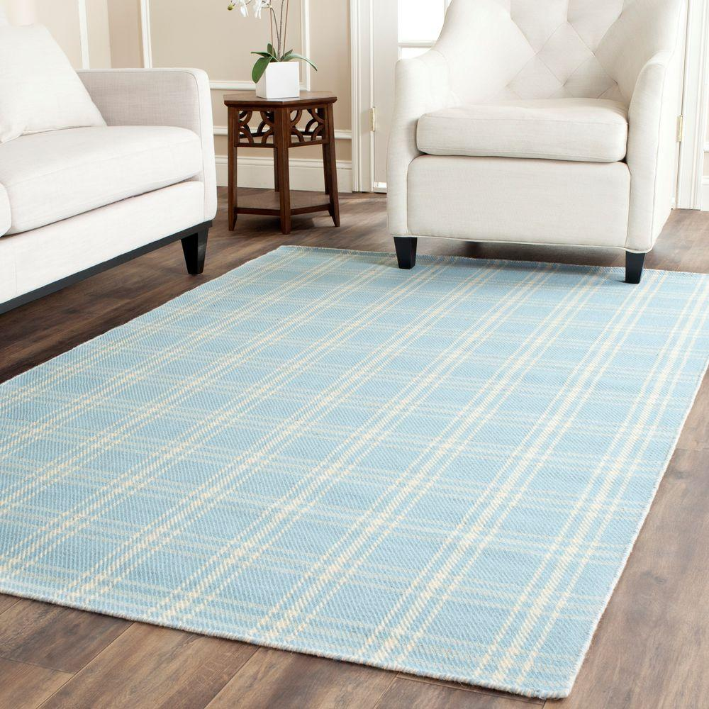 Kilim Light Blue/Yellow 5 ft. x 8 ft. Area Rug