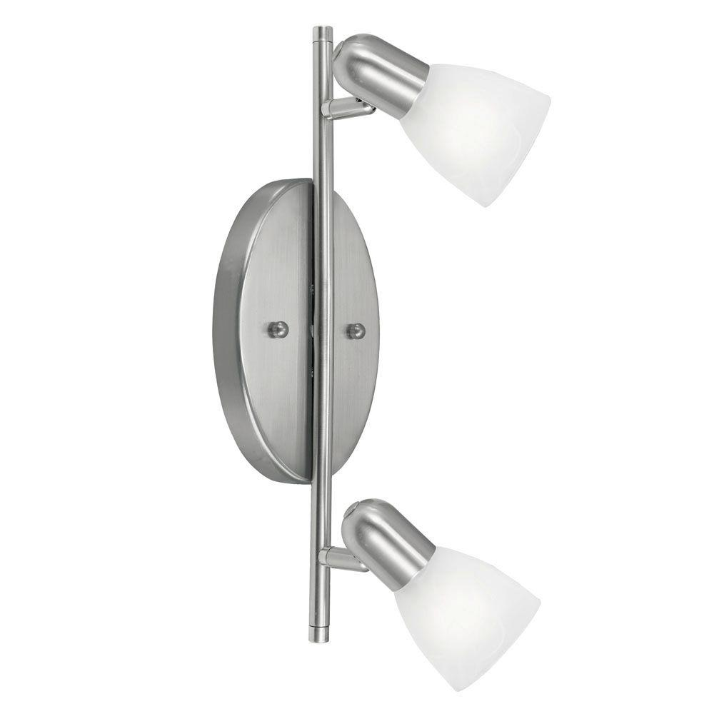 Eglo Dakar 2-Light Matte Nickel Wall or Ceiling Light