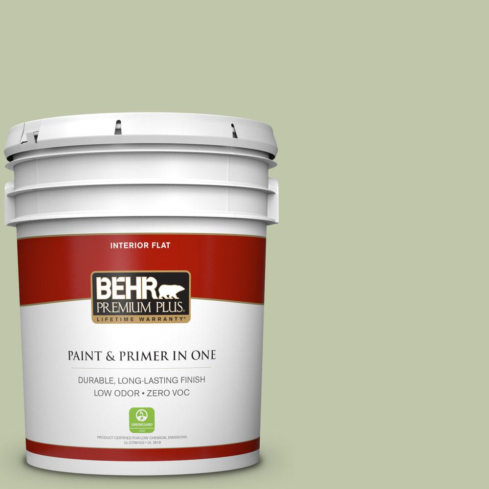 5 gal. #PPU10-08 Minted Lemon Zero VOC Flat Interior Paint
