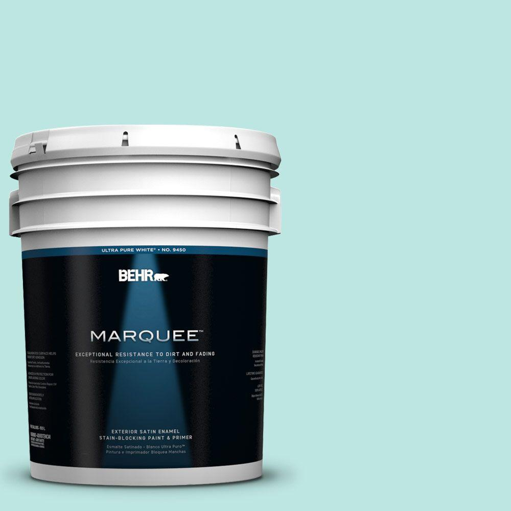 BEHR MARQUEE 5-gal. #490A-2 Cool Jazz Satin Enamel Exterior Paint-945005 -