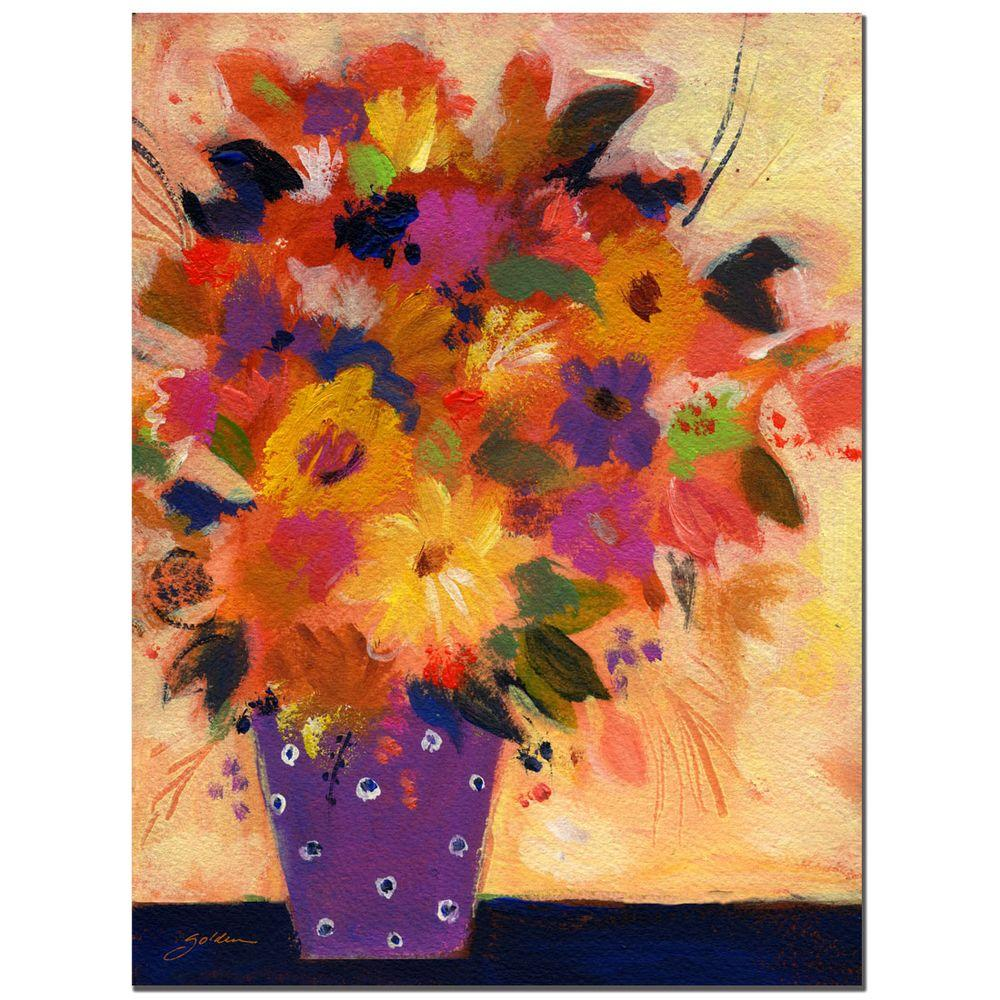 Trademark Fine Art 18 in. x 24 in. Dotted Vase 2 Canvas Art