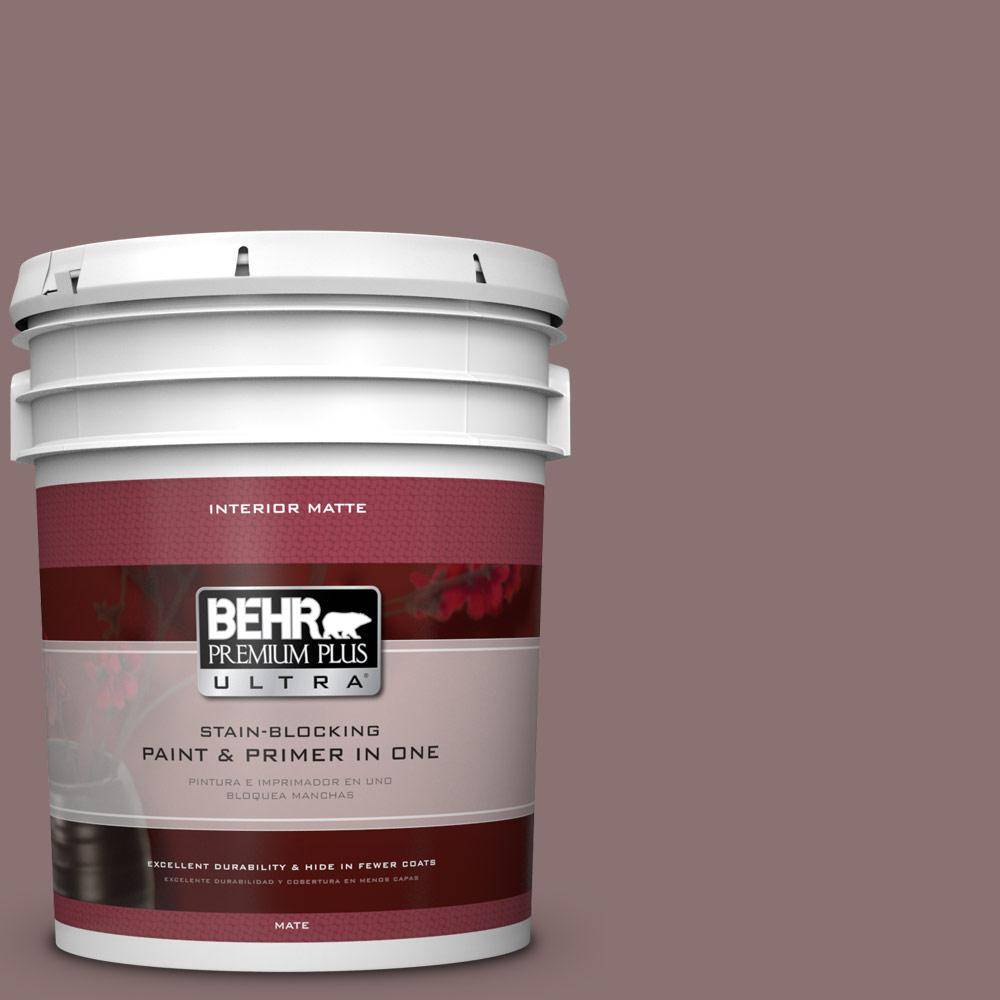 Home Decorators Collection 5 gal. #HDC-AC-28 Smokey Claret Flat/Matte Interior Paint