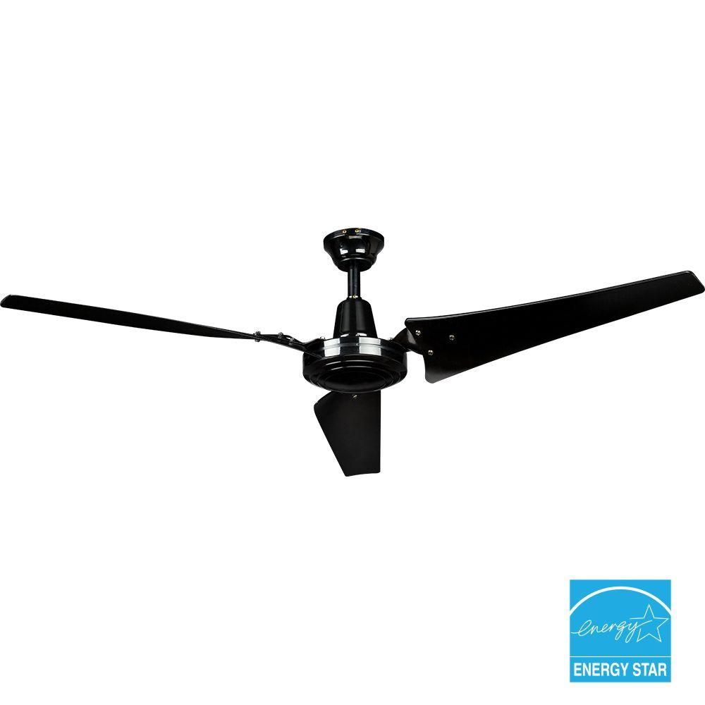 60 in. Black Industrial Ceiling Fan