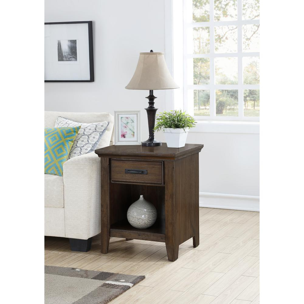 Foremost rockwell distressed wheat end table rst 04222 for Foremost homes