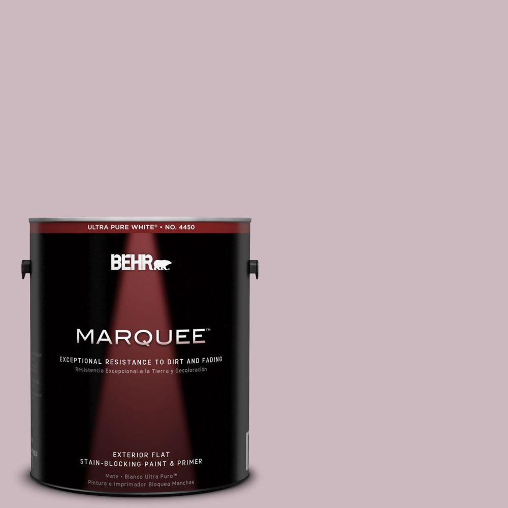 BEHR MARQUEE 1-gal. #690E-3 Iris Pink Flat Exterior Paint-445001 - The
