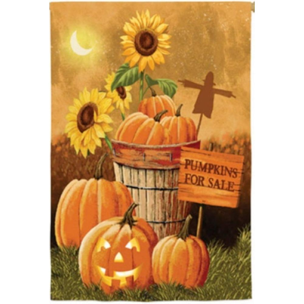 2 ft. x 4 ft. Regular Sub Suede Pumpkin Patch for