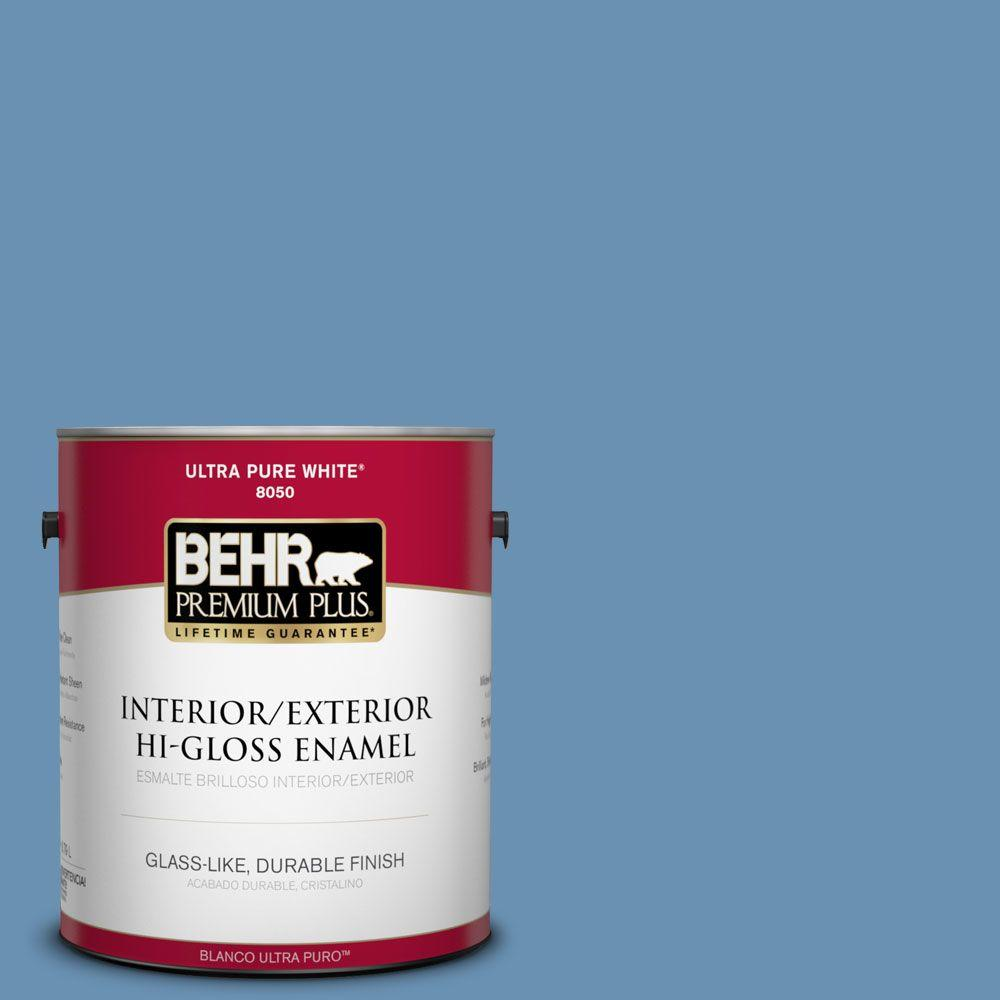 1-gal. #M510-4 Brittany Blue Hi-Gloss Enamel Interior/Exterior Paint