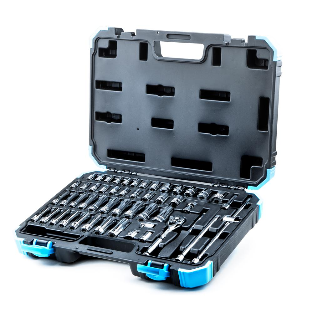 1/4 in. Drive SAE/Metric Master Socket Set with Ratchets, Adapters and