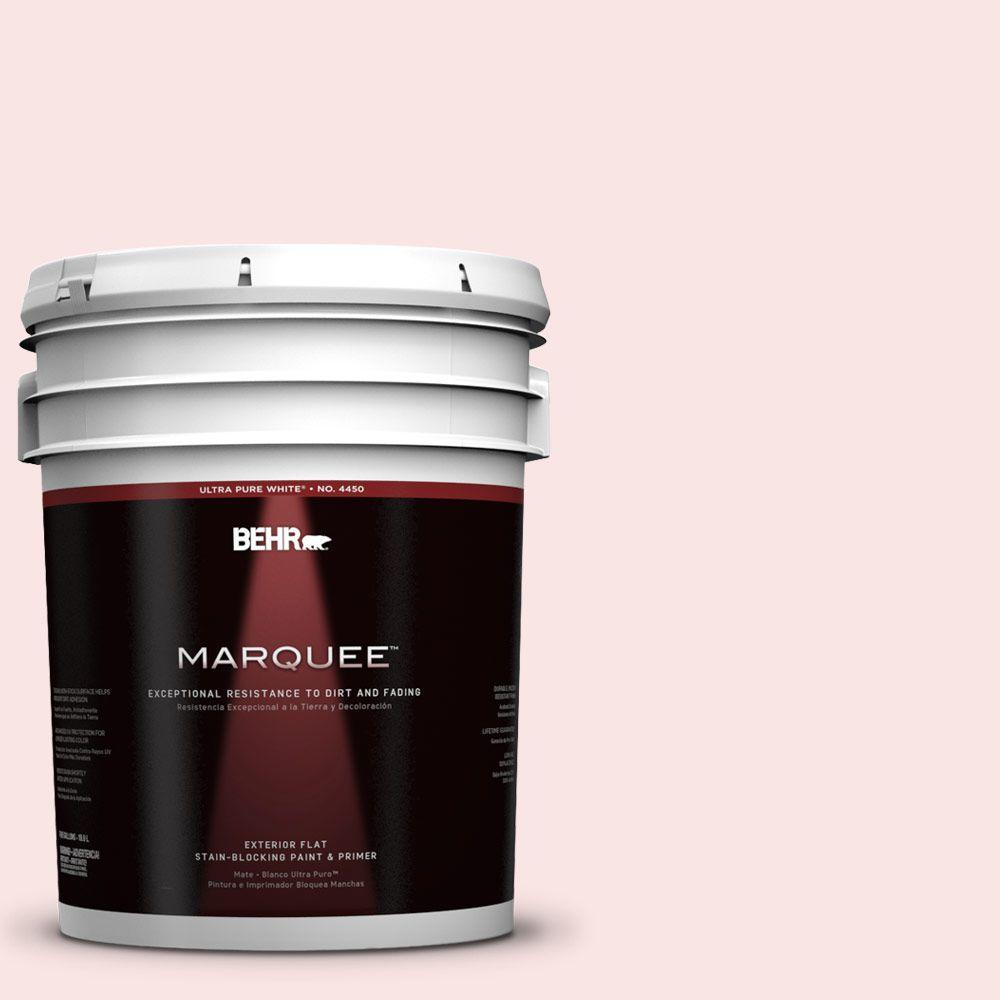 BEHR MARQUEE 5-gal. #130A-1 Sweet Nothing Flat Exterior Paint-445005 - The