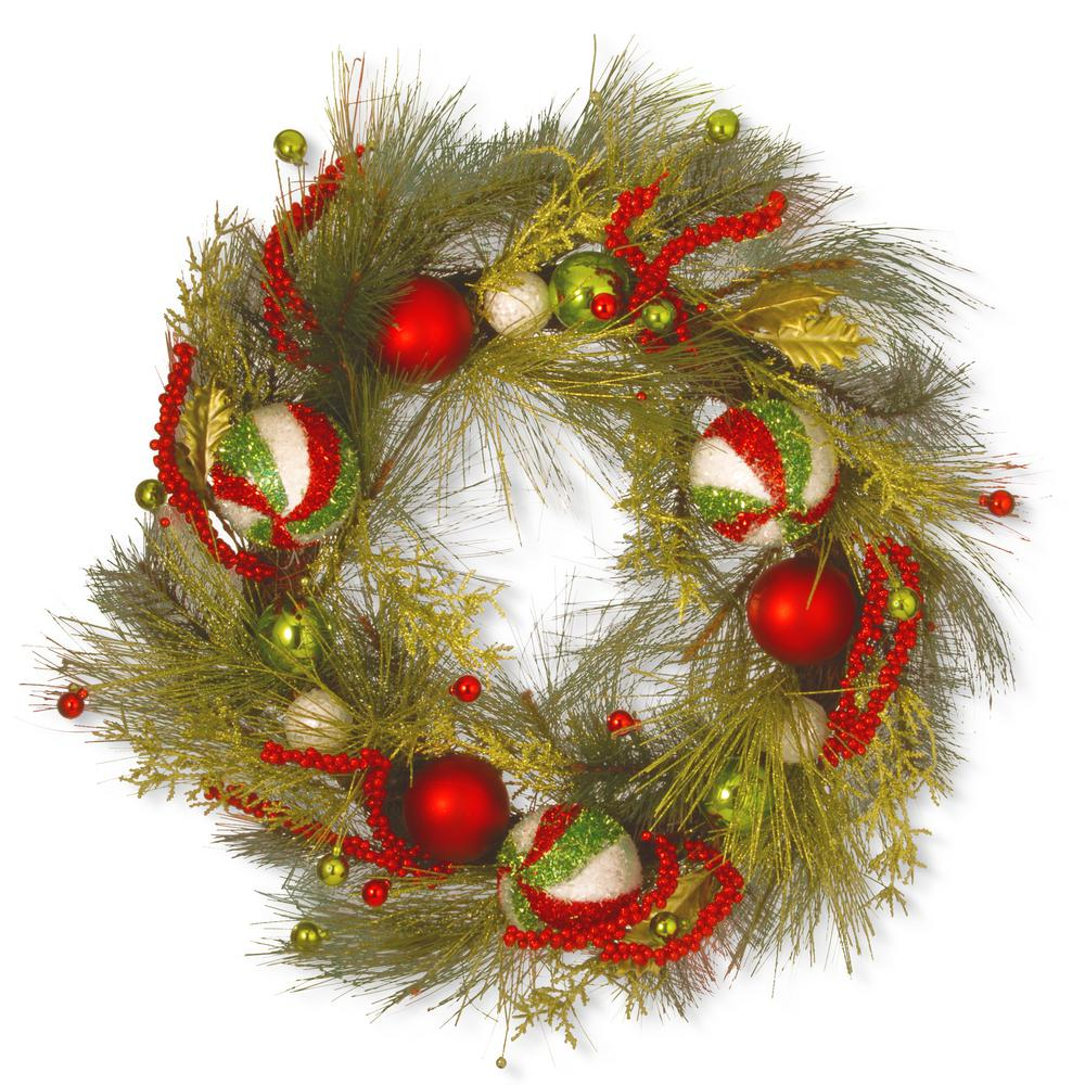 30 in. Christmas Ball Artificial Wreath