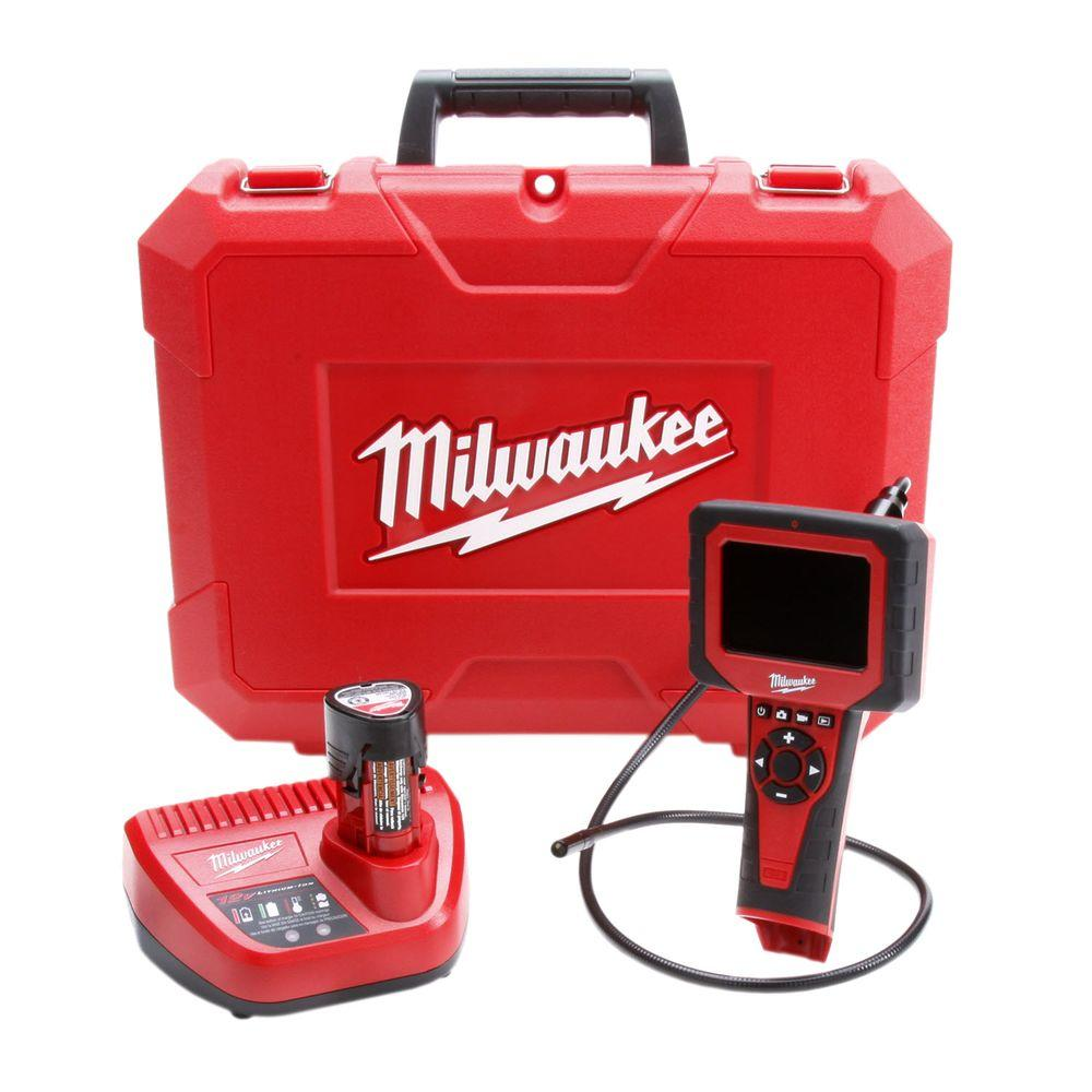 Milwaukee M12 12-Volt Lithium-Ion Cordless 9.5 mm M-Spector AV Inspection Camera Kit
