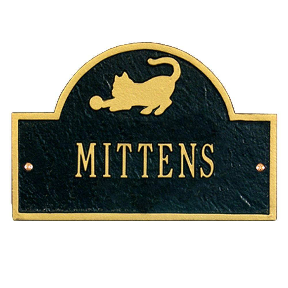 Pet Cat Mini Arch Black/Gold One Line Wall Marker