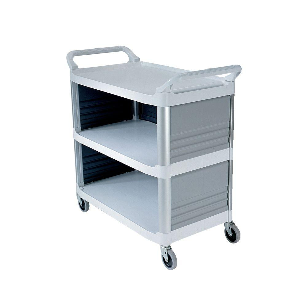 Xtra Utility Cart with Enclosed End Panels and Sidein Off White, Gray