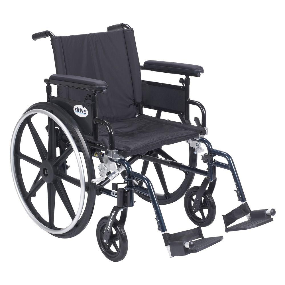 Drive Viper Plus GT 20 in. Wheelchair with Removable Flip Back