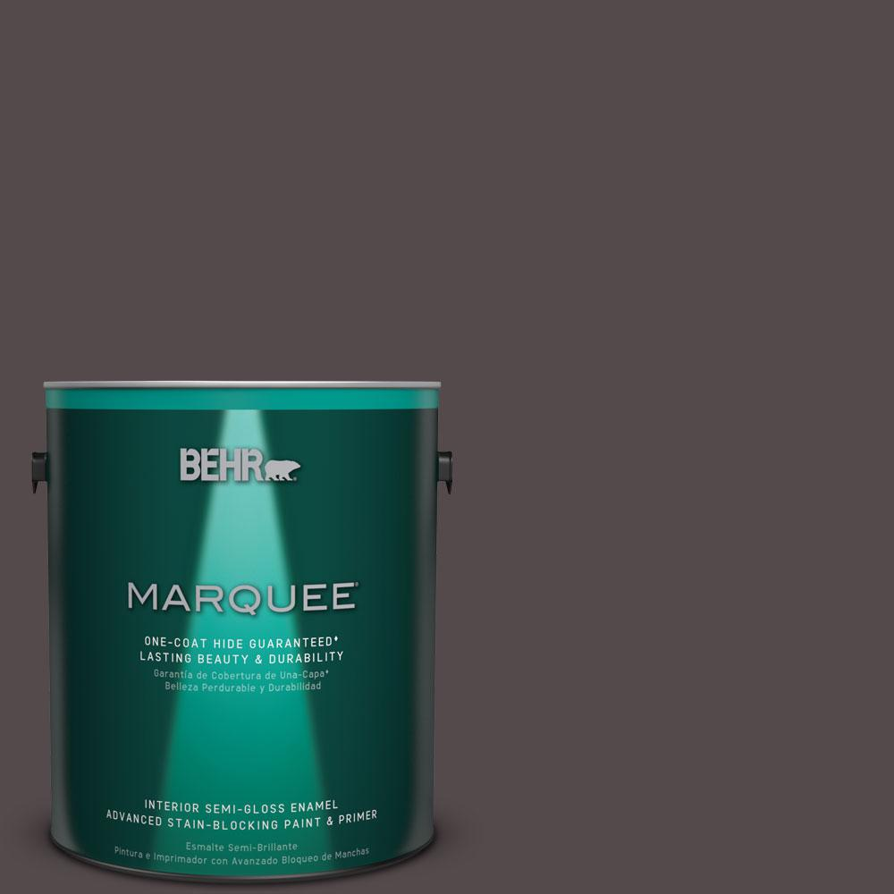 BEHR MARQUEE 1 gal. #MQ1-34 Instant Classic One-Coat Hide Semi-Gloss Enamel Interior Paint