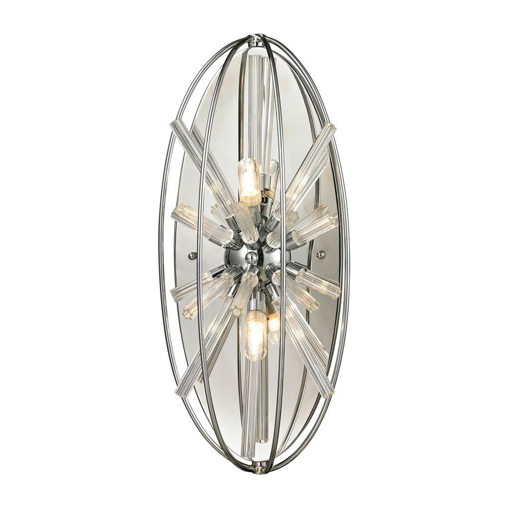 Novae Collection 2-Light Polished Chrome Sconce