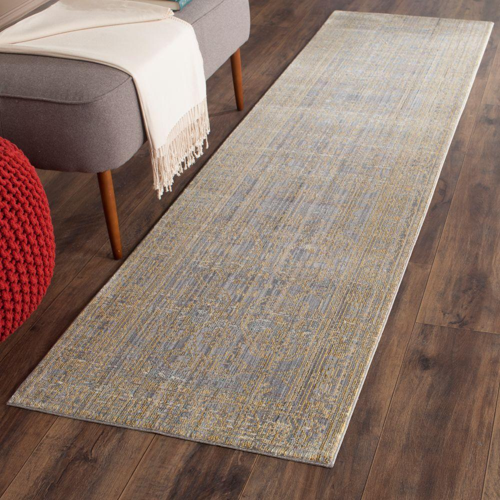 Valencia Grey/Gold 2 ft. 3 in. x 10 ft. Runner
