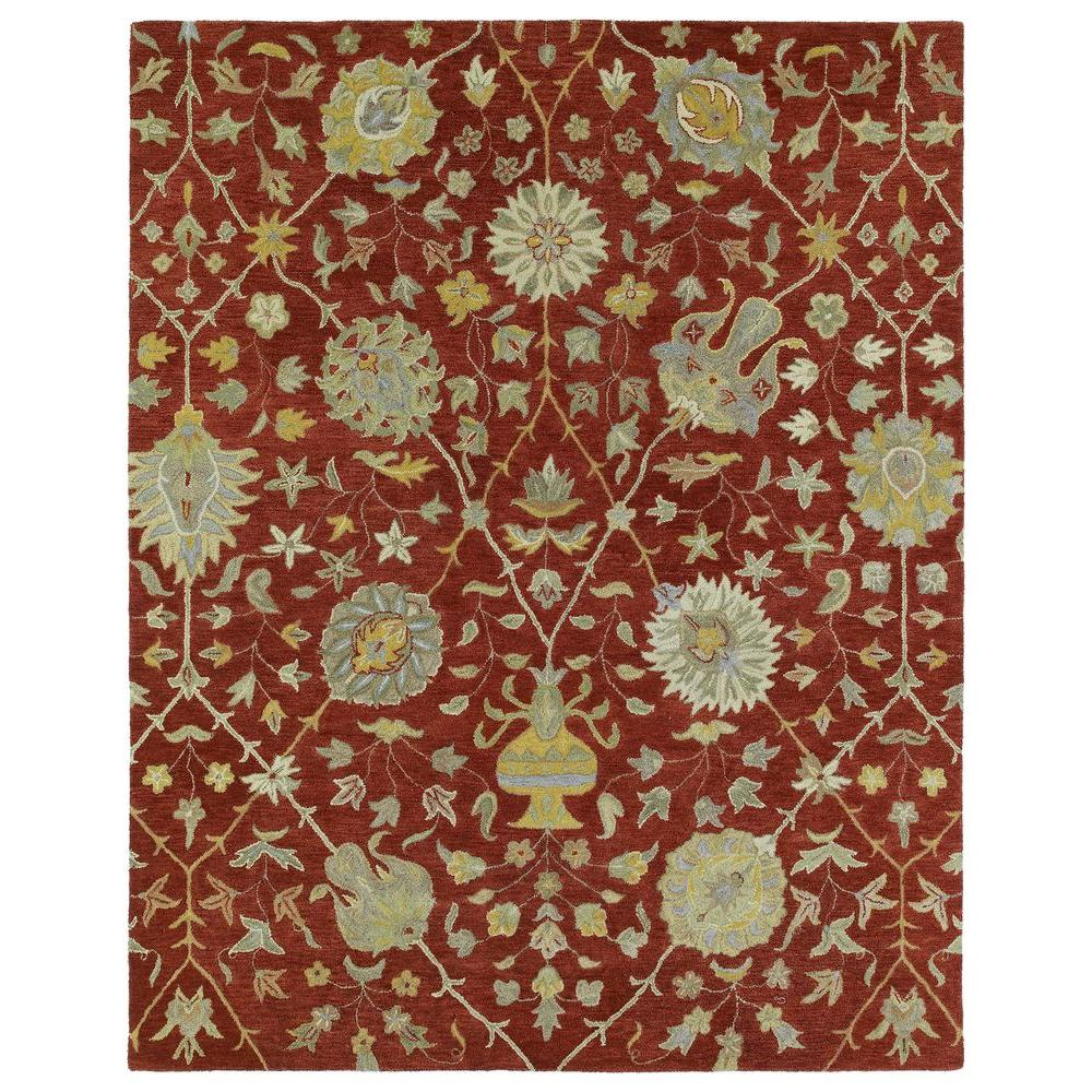 Kaleen Helena Aphrodite Red 10 ft. x 14 ft. Area Rug
