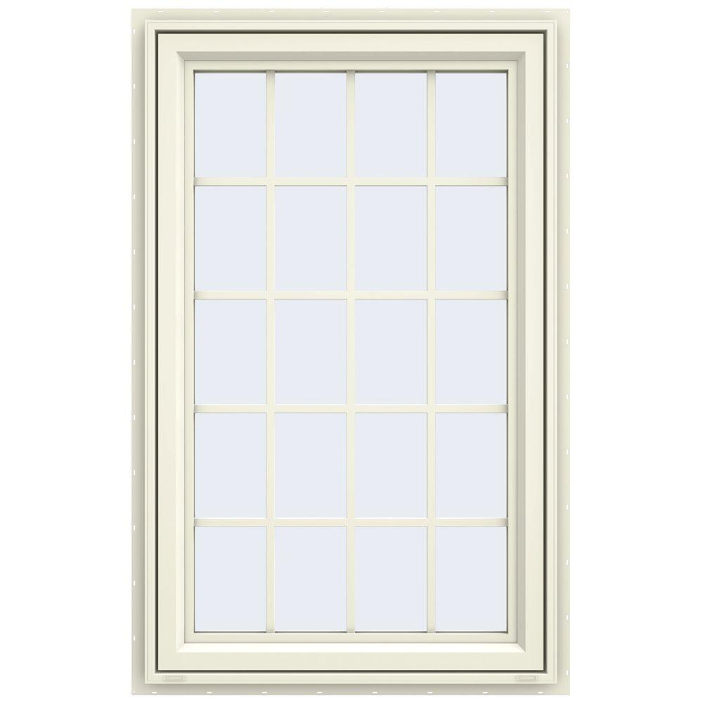 Jeld wen 29 5 in x 47 5 in v 4500 series left hand for Window home depot