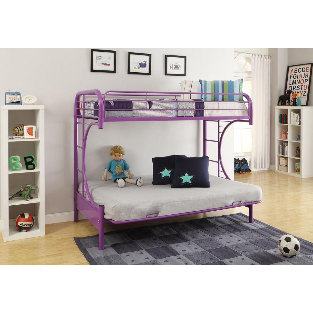 Acme Furniture Eclipse Twin Over Full Metal Kids Bunk Bed PU