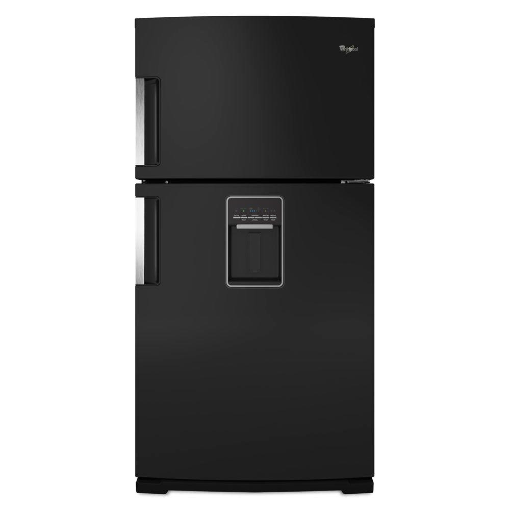 Whirlpool Gold 21.2 cu. ft. Top Freezer Refrigerator in Black