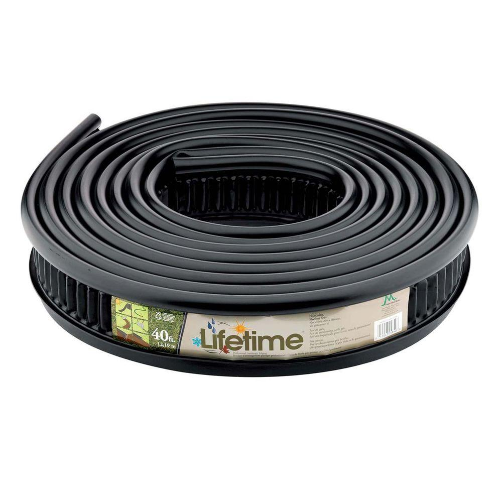 Master Mark Lifetime Professional 40 ft. Recycled Plastic Landscape Lawn Edging No Stakes Required