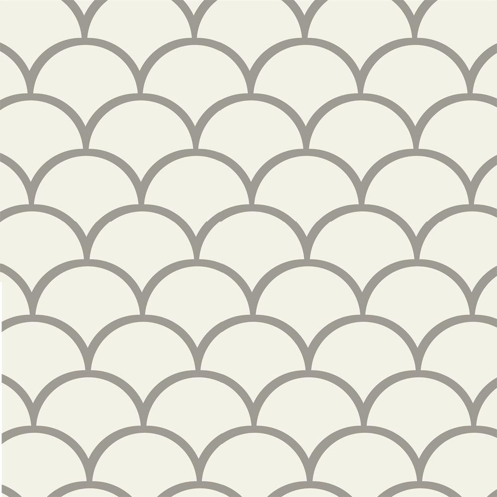 Stencil Ease 45 in. x 45 in. Scales Wall Painting Stencil