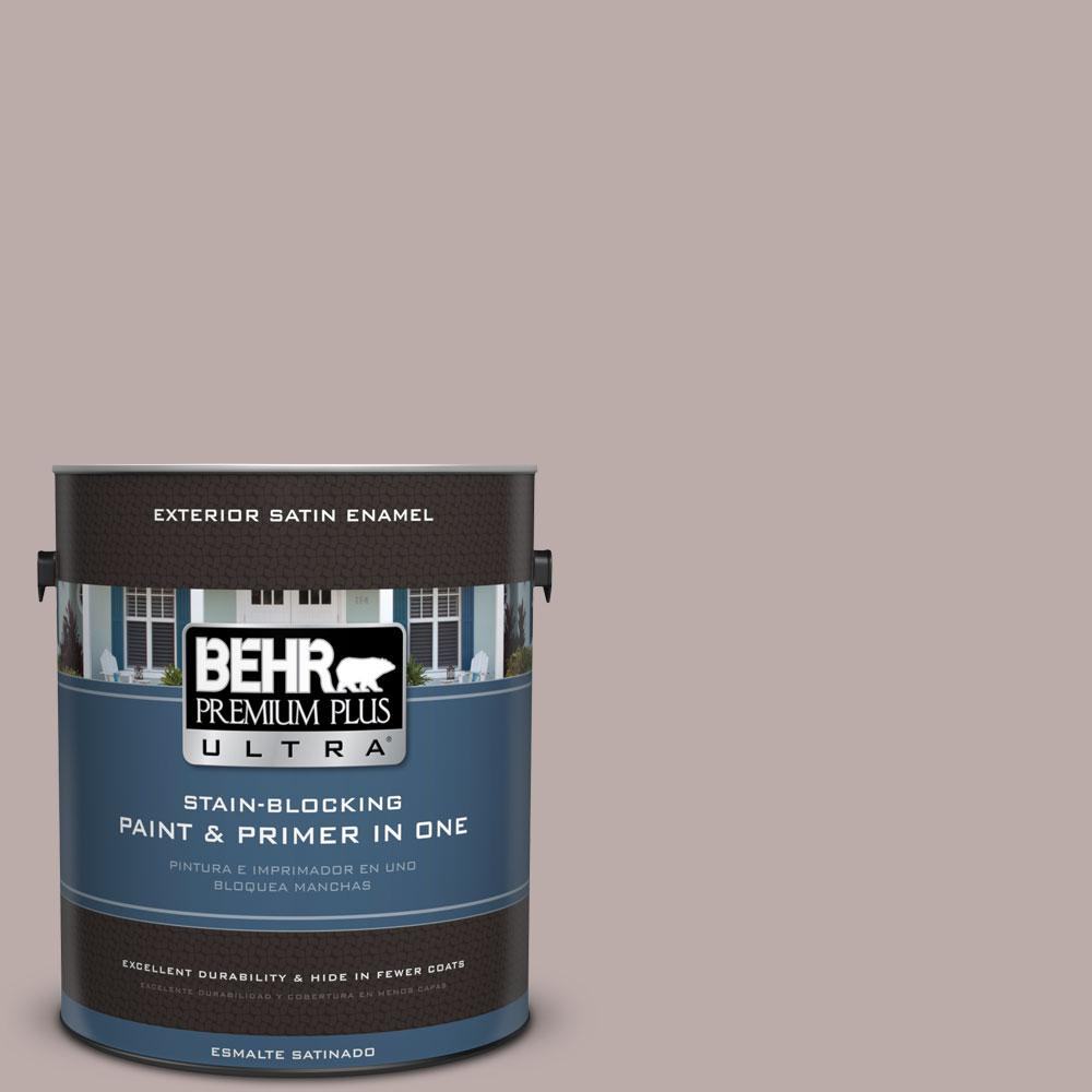 1-gal. #730B-4 Winter Cocoa Satin Enamel Exterior Paint