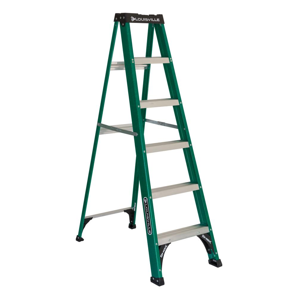 6 ft. Fiberglass Step Ladder with 225 lbs. Load Capacity Type